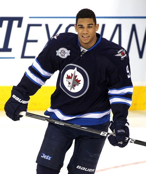 Winnipeg Jets forward Evander Kane