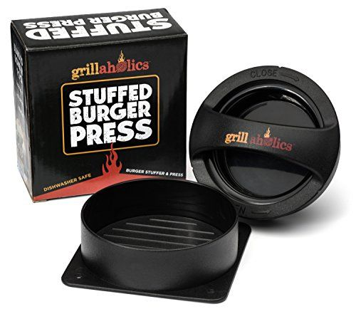 Grillaholics Stuffed Burger Press and Recipe eBook - Hamburger Patty Maker for Grilling - BBQ Grill Accessories ** For more information, visit image link.