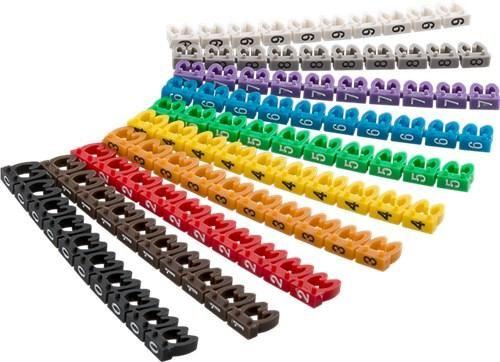 Kabelclip - Marker ''0-9''