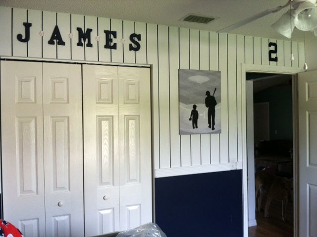 Love This Paint Job My Favorite Sports Teams Inspired Me To Decorate My  Sons Nursery With A New York Yankees And Rangers Theme.