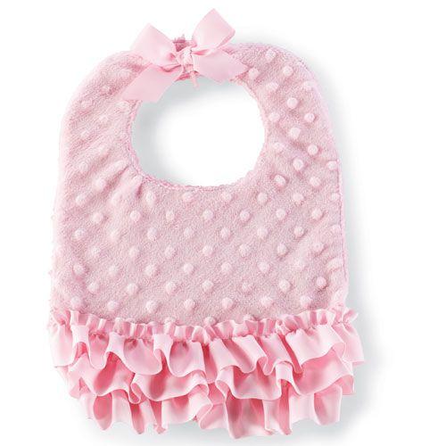 Pink Minky Baby Bib