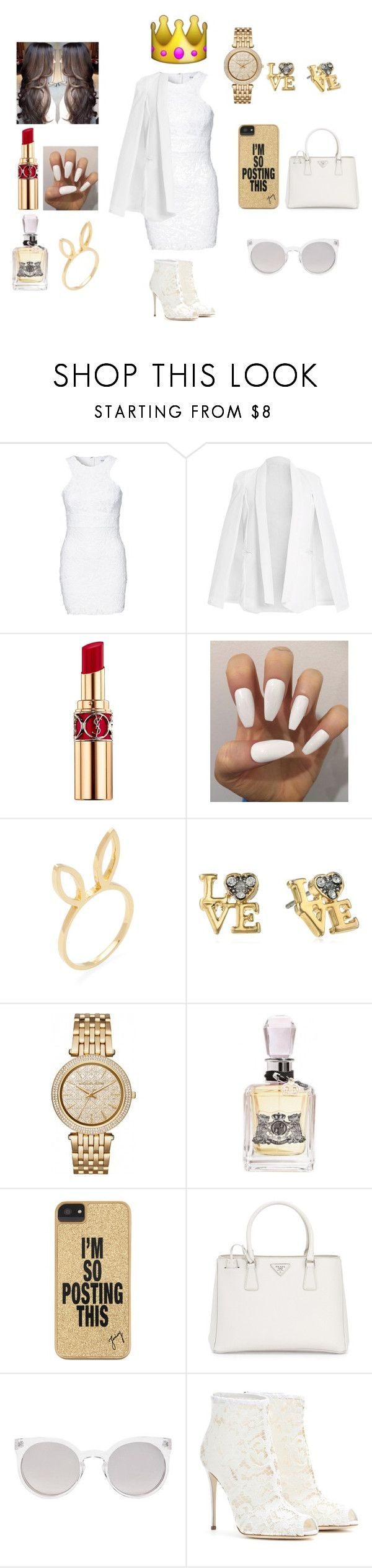 """""""#Rich kids of Beverly Hills"""" by fashionismypashion476589 ❤ liked on Polyvore featuring Glamorous, Yves Saint Laurent, Jacquie Aiche, Juicy Couture, Michael Kors, Prada, Kosha and Dolce&Gabbana"""