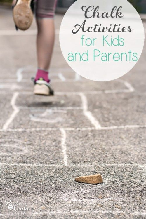 Chalk Activities for Kids and Parents ~ Real Summer of Fun – Share Today's Craft and DIY Ideas