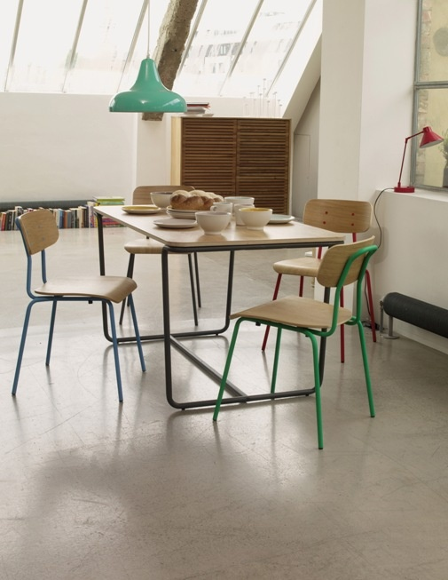 Hester Charcoal Stackable Dining Chair Brings Refectory And Retro Design Into Your Home With A Colourful Century Twist Buy Now At Habitat UK