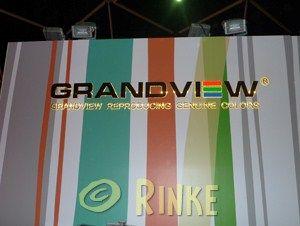 Grandview  2011 3D perspex letters voorzien van folies