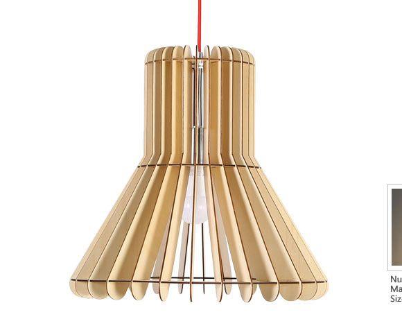 Originálne závesné drevené svietidlo z kolekcie iWood - LOTUS