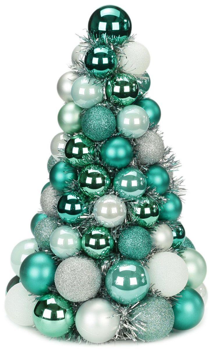 Christmas Color Ideas  Beautifulchristmastreedecoratingturquoise