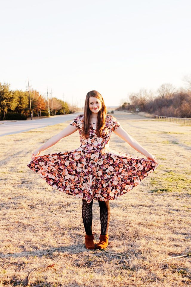 DIY circle dress; free pattern. // See Kate Sew.
