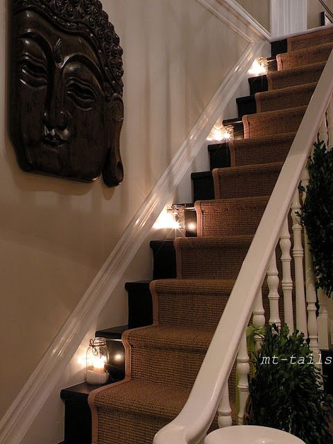 Lighting Basement Washroom Stairs: Rockin Around The Christmas Tree Staircase With Sisal