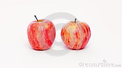 Two apples on a white background isolated background
