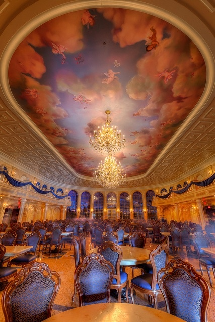 """Beauty and the Beast """"Be Our Guest"""" restaurant in Disney World. So wish this were at Disneyland too!"""