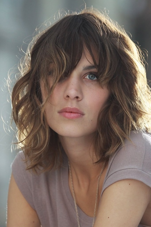 Alexa Chung- perfect bangs and curls