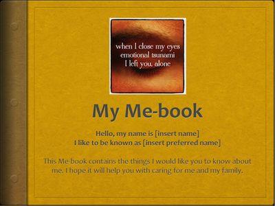 Dementia Products - Me-book Album Template