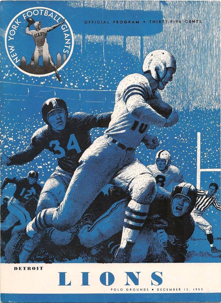 New York Giants Game Program December 13,1953 vs. Lions