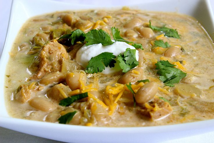 Slow Cooker White Bean & Chicken Chili - Skinny Ms.