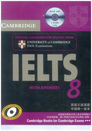 Cambridge ielts 8 self study pack (student's book with answers and a…