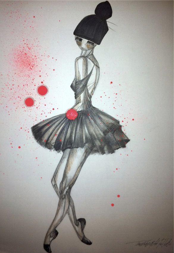 Thomine Louise Christina Sørensen is the artist behind Thomine & Art Fellow. - Ballerina -