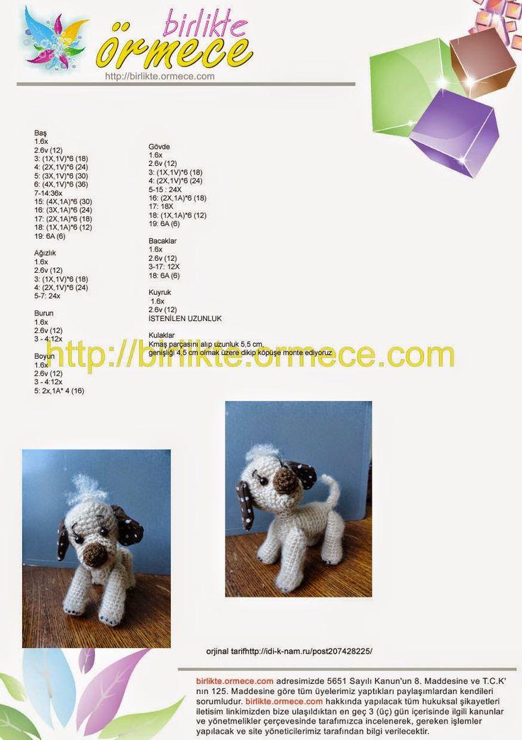 Ludmilla ile Örmece: Amigurumi Köpek tarifi