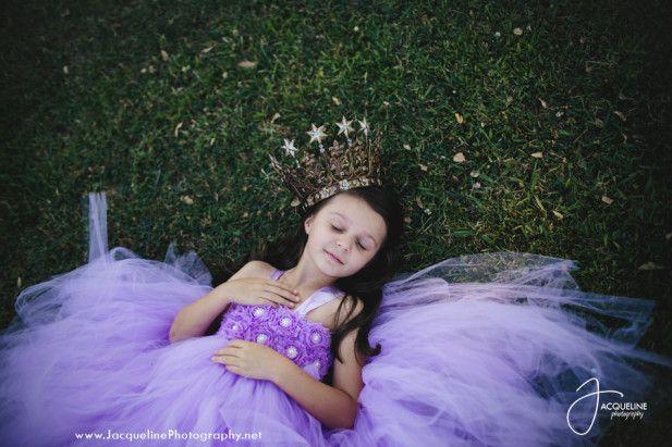 Adorable purple flower girl dress