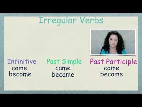 Δωρεάν μαθήματα Αγγλικών - Ανώμαλα Ρήματα 3 - Free English lessons in Greek - Irregular Verbs 3 - YouTube