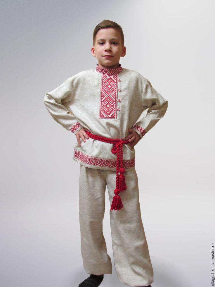 """Купить Рубаха и порты на мальчика """"Даждьбог"""" - русский стиль, русская вышивка, вышитая рубаха"""