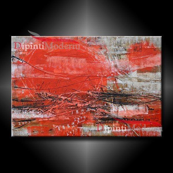 17 best images about quadri astratti dipinti a mano on for Quadri astratti rossi