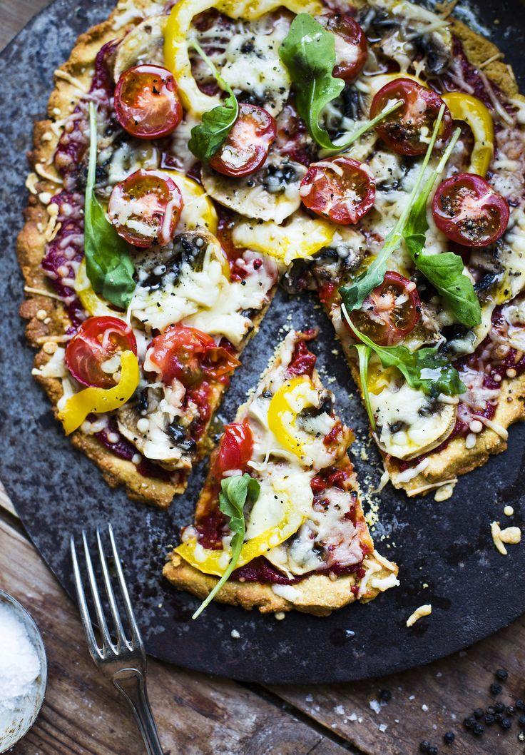 Gluten free Vegetarian Pizza / Glutenfri, Vegetarisk Pizza på 30 minuter! - Evelinas Ekologiska
