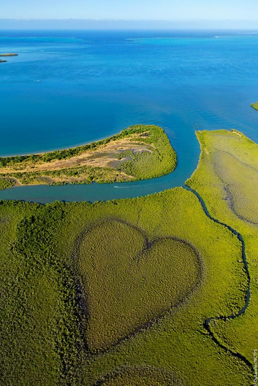 The Coeur de Voh in New Caledonia. Photo by Stephane Ducandes