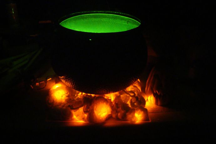 How to make Hot Burning Coals for your witches cauldron.
