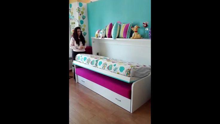 37 mejores im genes sobre camas abatibles en horizontal en - Camas infantiles plegables ...