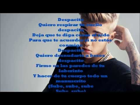 Luis Fonsi, Daddy Yankee - Despacito (letra official) ft. Justin Bieber - lyrics official. - YouTube