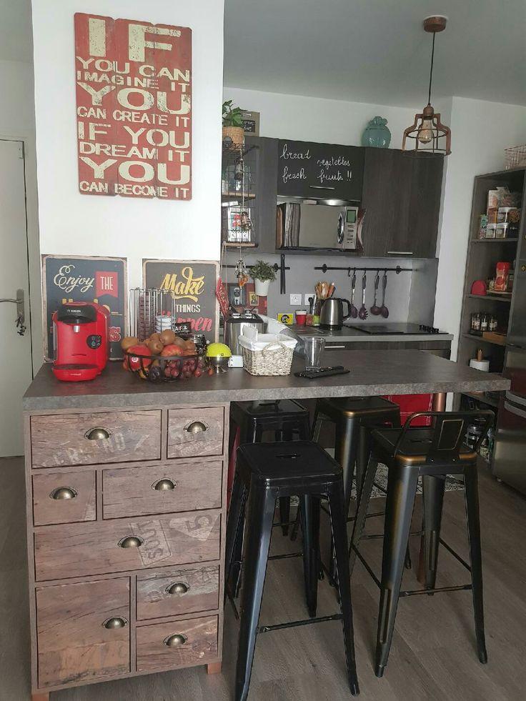 Petit coin repas industriel petit espace cuisine industriel coin repas cuisine industrielle - Petit coin cuisine ...