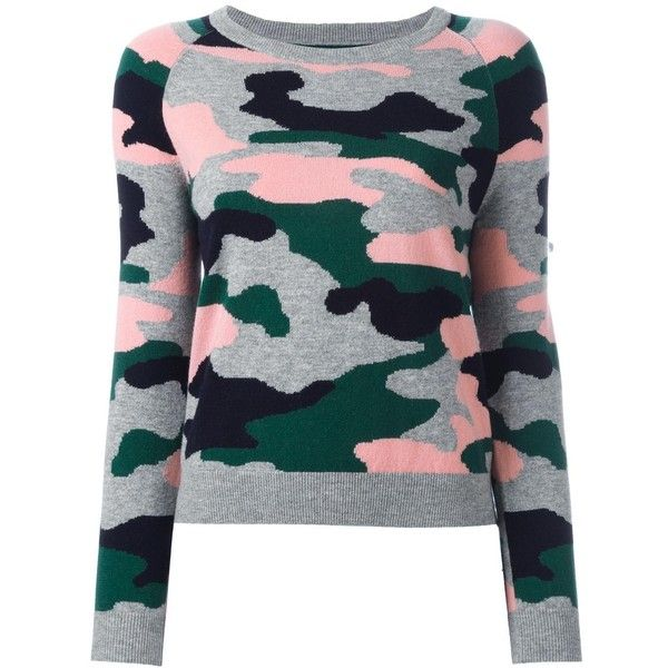Chinti And Parker camouflage intarsia jumper ($460) ❤ liked on Polyvore featuring tops, sweaters, green, intarsia sweater, camouflage jumper, jumpers sweaters, jumper top and green jumper