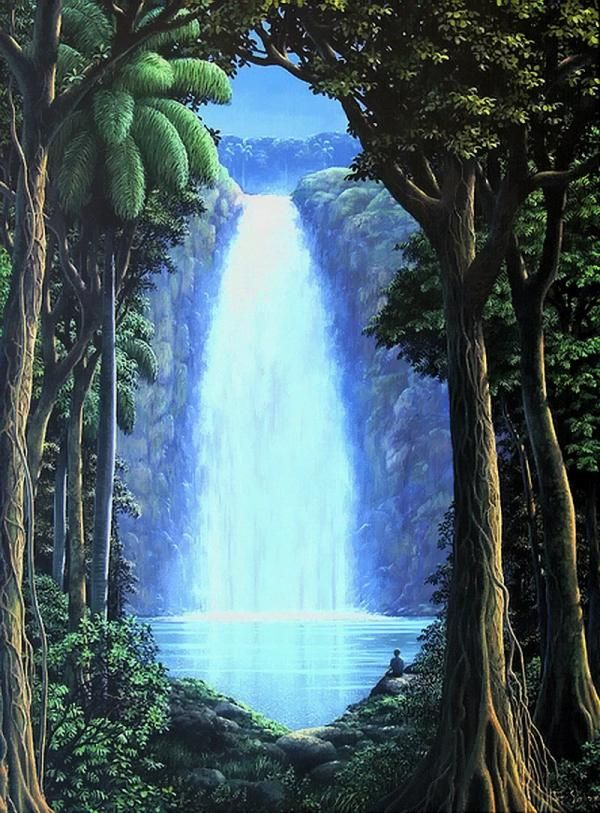 Waterfall Paintings by Tomas Sanchez