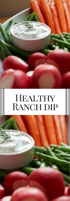 Healthy Ranch Dip or Dressing. Easy recipe kids love.