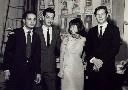 Nara, musa da Bossa Nova, com Tom Jobim, Lucio Alves e Baden Powell .