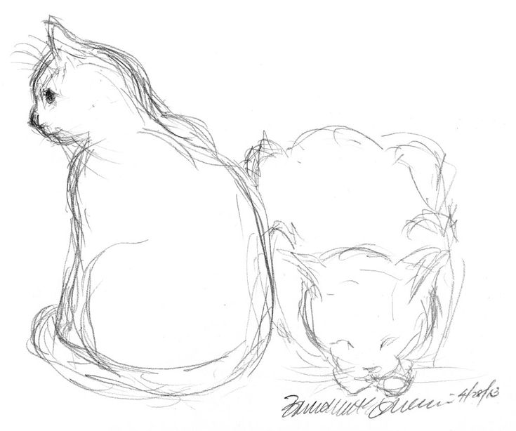 Daily Sketch: Two Cats
