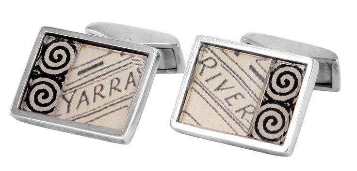 Yarra River street directory cufflinks