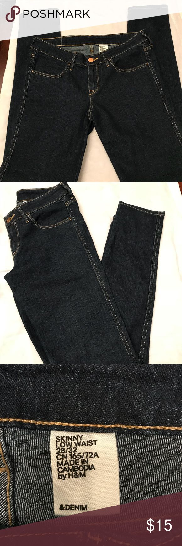 H&M skinny low waist jeans Like new. No stains or flaws. Skinny low waist. Inseam 32 H&M Jeans Skinny