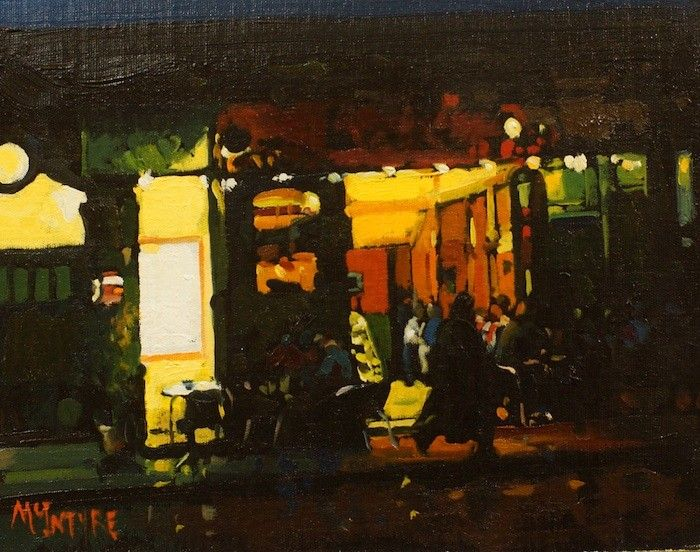 Study For Evening In The City, Cafe Bar, London by Joe McIntyre