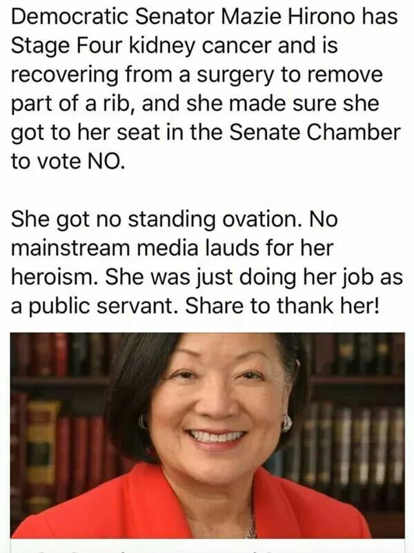 Thank you, and warmest wishes for a full and speedy recovery, Senator Hirono!
