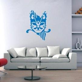 Vinyl Wall Art Abstract Cat