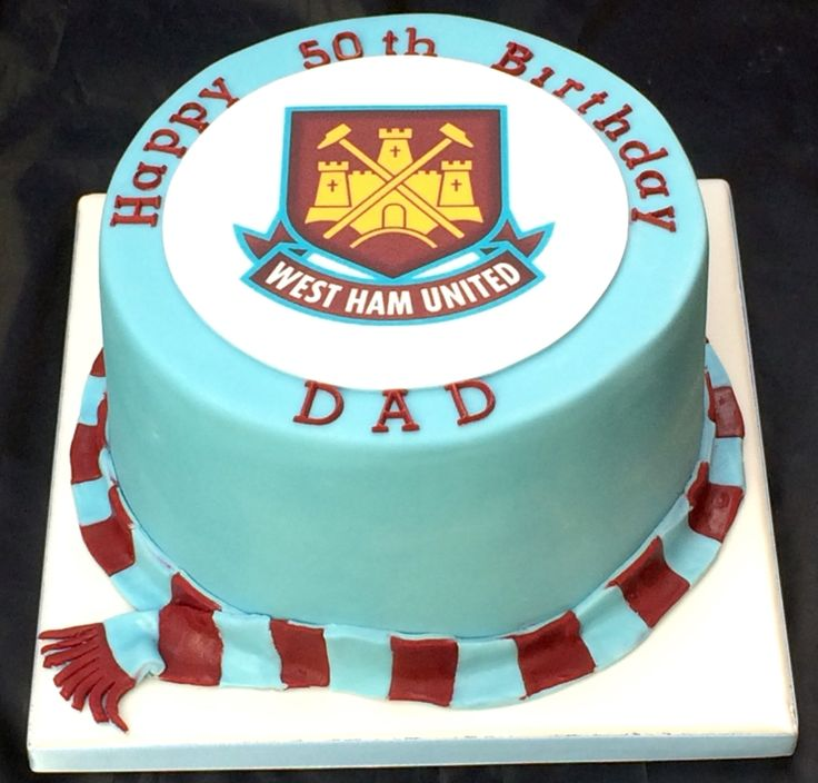West Ham Cake Dinner Party Dad Birthday Cakes