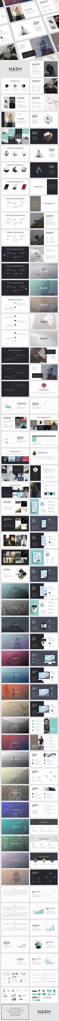 NASH Keynote Presentation: Minimal template design for Keynote. #design Download: https://creativemarket.com/GoaShape/494082-NASH-Keynote-Presentation-BONUS/?u=nexion