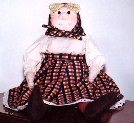 Old Woman Doll PDF Soft Sculpture Doll