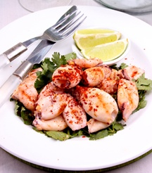 We South Africans love our seafood - try this Grilled Calamari Salad.