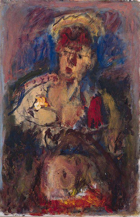 Giorgos Bouzianis - Woman with flowers
