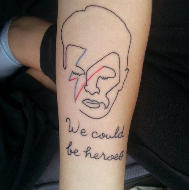 David Bowie Tattoos | POPSUGAR Beauty UK