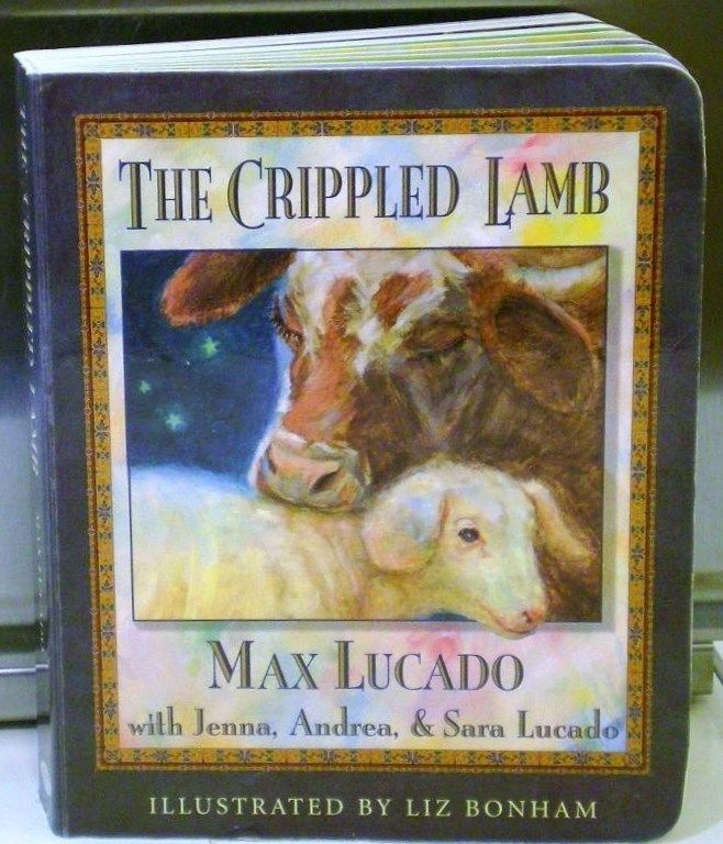 The Crippled Lamb Board Book by Max Lucado Christmas Childrens