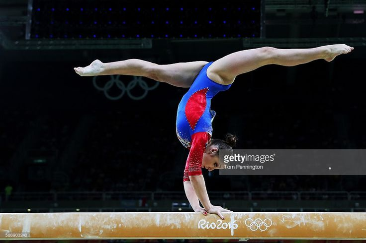 Aliya Mustafina of Russia competes on the balance beam during Women's qualification for Artistic Gymnastics on Day 2 of the Rio 2016 Olympic Games at the Rio Olympic Arena on August 7, 2016 in Rio de Janeiro, Brazil.